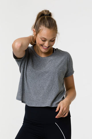 Grey Swing Back Top