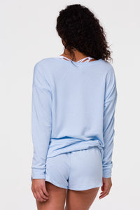 High Low Sweater Blue