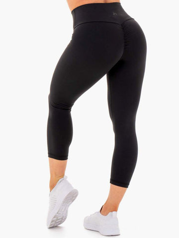 Motion High Waisted 7/8 Scrunch Bum Legging Black
