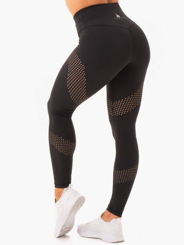 Impact High Waisted Leggings Black