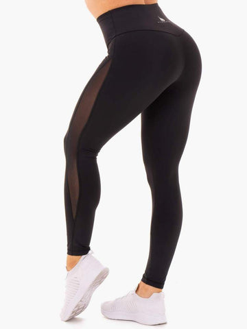 Hype High Waist Mesh Leggings Black