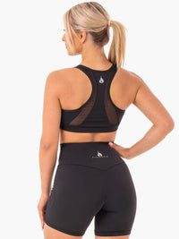 Hype Mesh Sports Bra Black