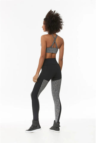 Legging Cheetah Grey