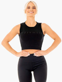 Motion Crop Top Black