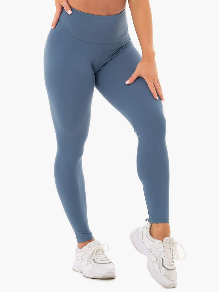 Staples Scrunch Bum Leggings Steel Blue