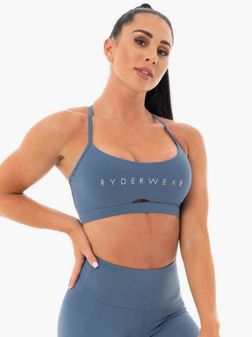 Staples Sport Bra Steel Blue
