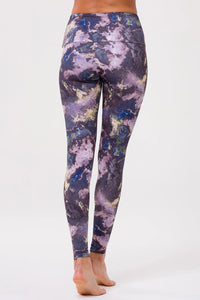 High Rise Legging Purple Marble
