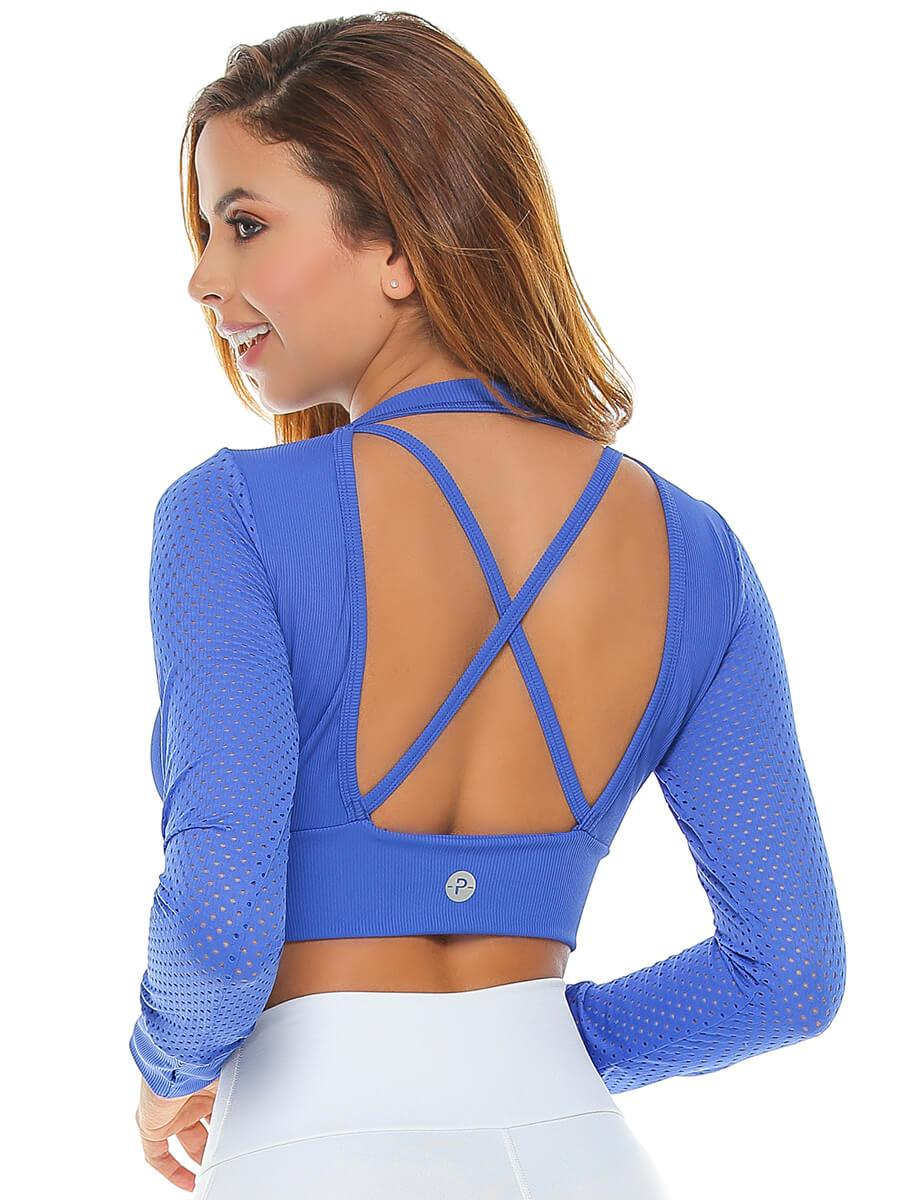Verna Crop Top Electric Blue