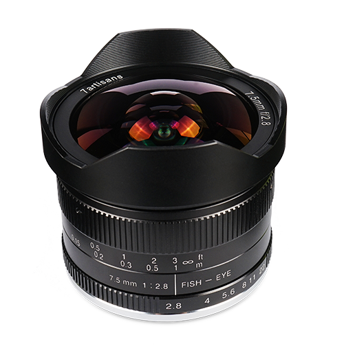 7Artisans 7.5mm f/2.8 Manual Focus Prime Fixed Lens for M43 for Panasonic and Olympus - 7Artisans UK