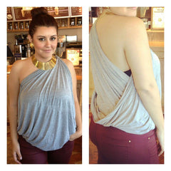 one shoulder drape top