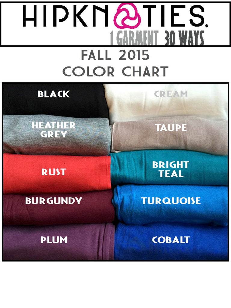 Color Chart And Available Colors Hipknoties