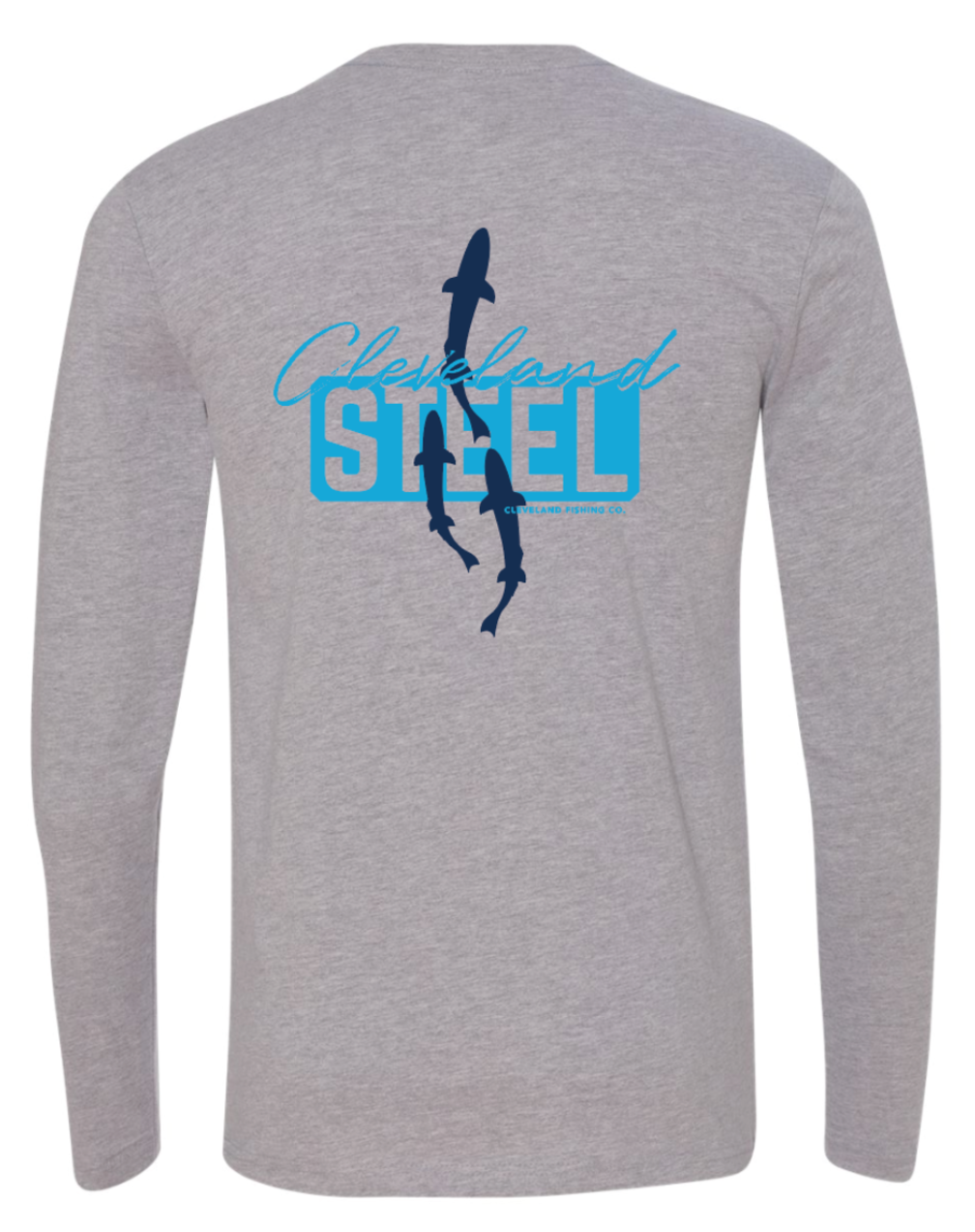 Cleveland Steel - Long Sleeve Tee - Grey