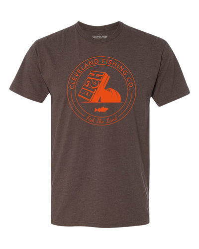 FISH Stamp Tee - Brown