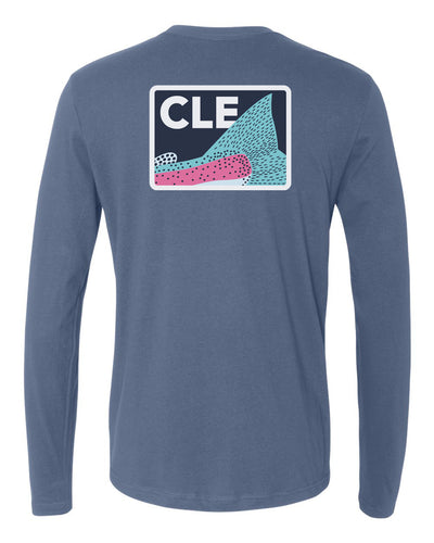 The Chrome Motor - Long Sleeve Tee - Indigo