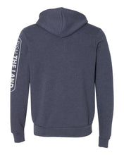 Zip Hoodie - Heather Navy