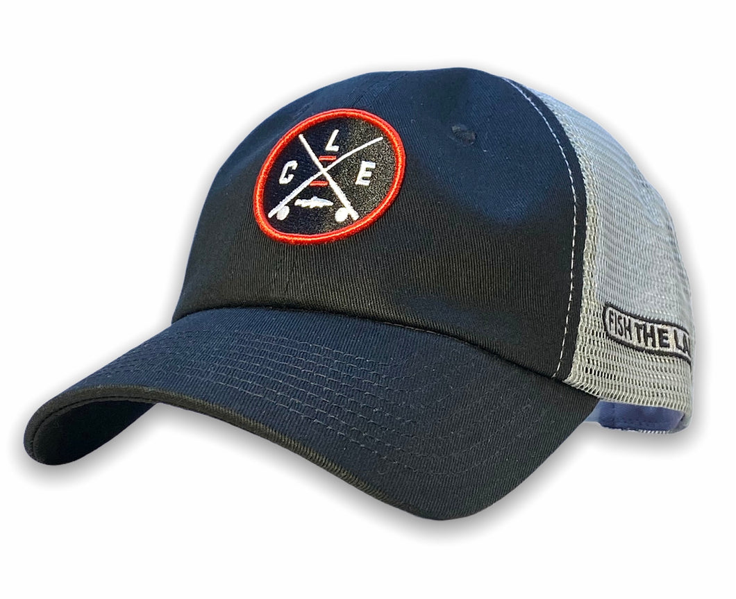 The Catawba Island - Unstructured Hat - Black and Steel