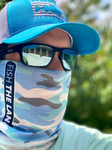 Face Shield - Blue Camo