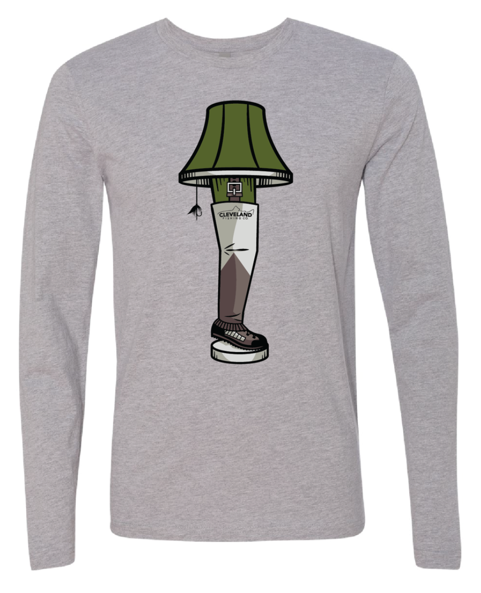 A Fishmas Story - Wader Leg Lamp Long Sleeve Tee