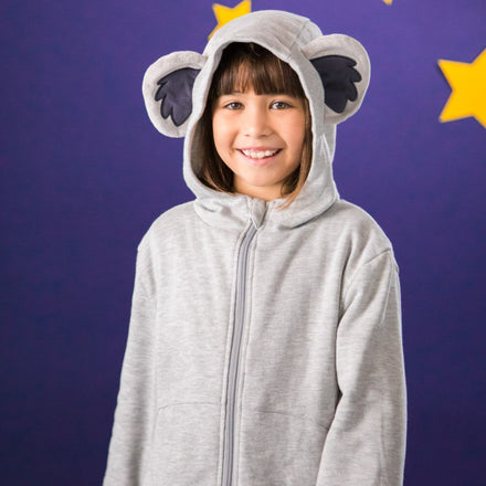 Load image into Gallery viewer, Koala Hoodie - Light Grey