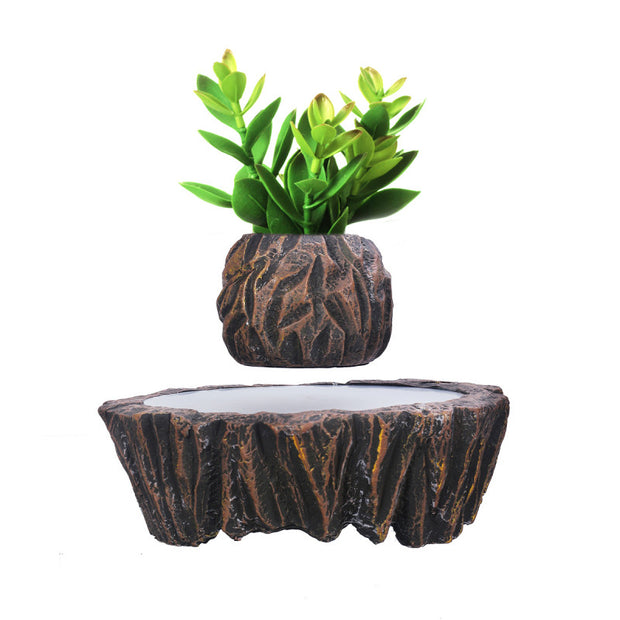 Magnetic Suspension Kit Levitating Floating Flower Plant Pot Indoor Decor