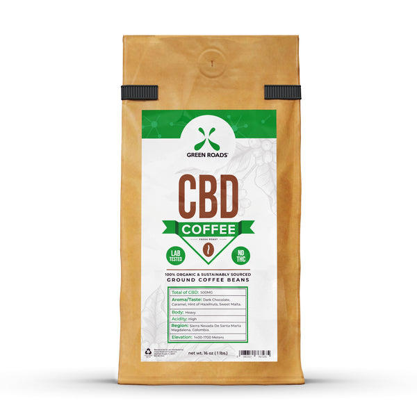 Green Roads - CBD Coffee - 16oz 500mg