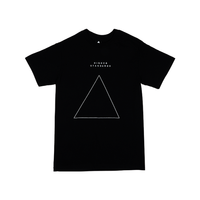 Higher Standards T-Shirt - Embroidered Triangle