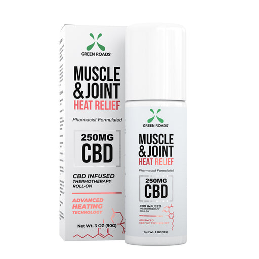 Green Roads - CBD Muscle & Joint Heat Relief Roll-On - 250mg