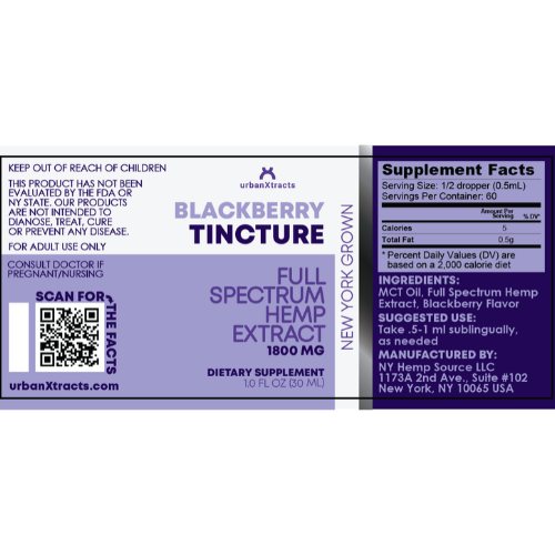 urbanXtracts - Blackberry Tincture - 1800MG