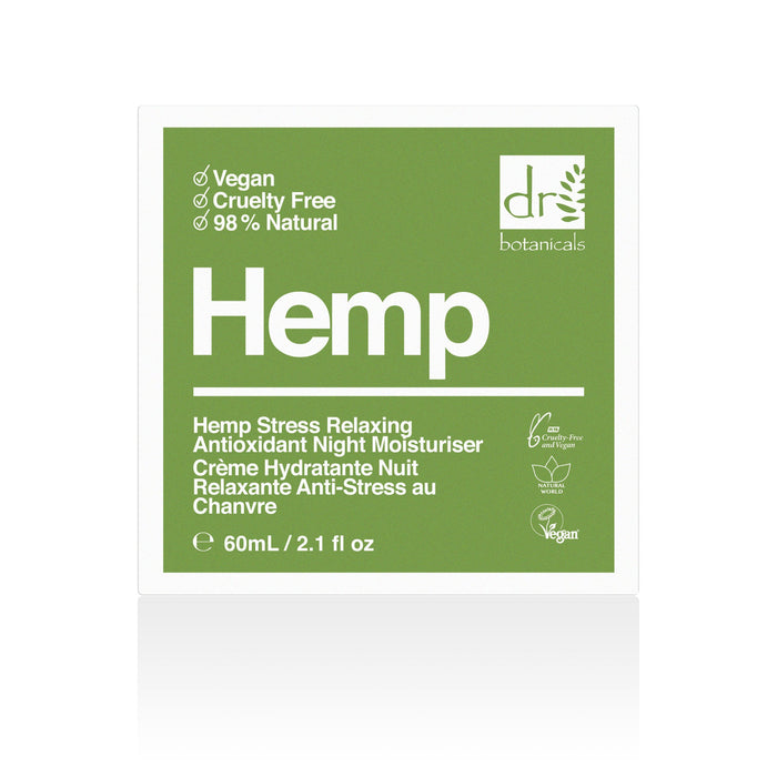 Dr. Botanicals - Hemp Stress Relaxing Antioxidant Night Moisturiser - 60ml