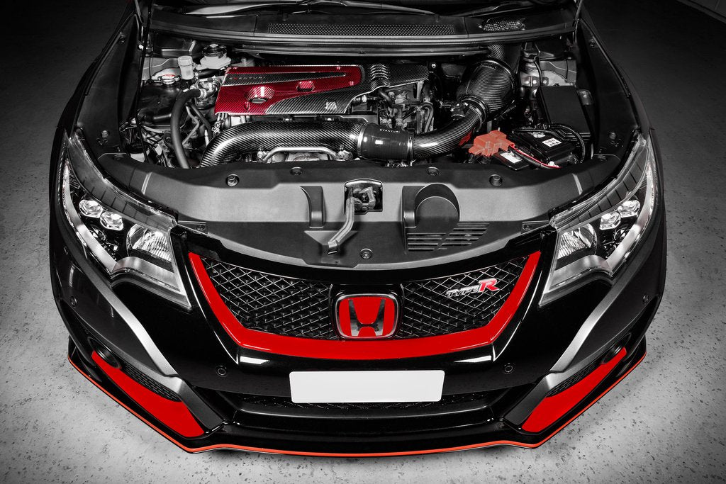 Eventuri Carbon Fibre & Red Carbon/Kevlar Engine Cover - Honda Civic Type R FK2/FK8