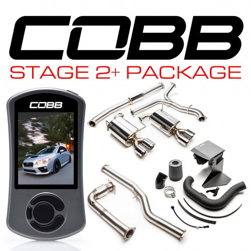 COBB - Subaru Stage 2 - Big SF Power Package (Non-Resonated J-Pipe) WRX 6MT 2015-2017