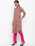 Mud Pink Kurta And Pant Set