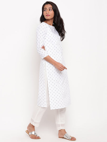White Cotton Seer Kurta
