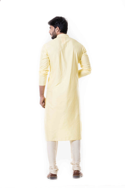 Anju Agarwal Lime Yellow Kurta Set