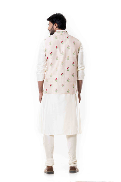 Anju Agarwal Cream Kurta Set