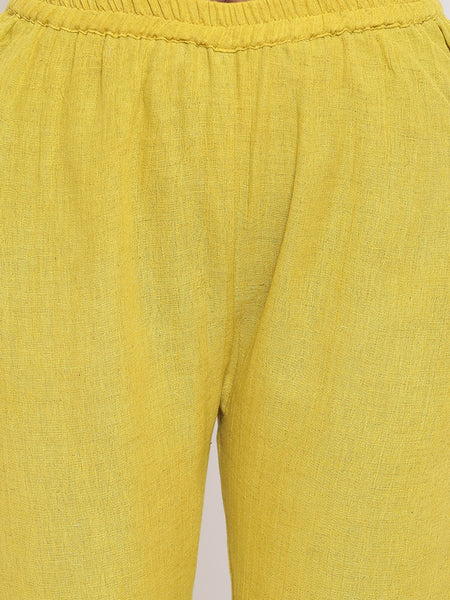 Yellow Gota Sleeve Kurta Set