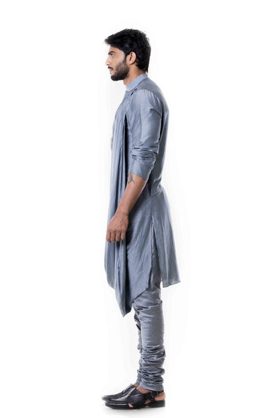 Anju Agarwal Grey Kurta Set