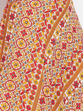 Printed Orange Skirt-Top Set