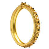 Silver Gold Plated Antique Bangle