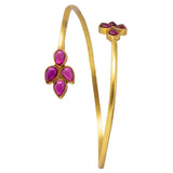 Silver Gold Plated Pink Pota bangle