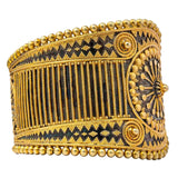 Silver Antique Gold Plated Bangle