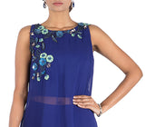 Anushree Agarwal Blue Crop Top With Palazzo