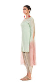 Anushree Agarwal Green and Dusty Pink Tunic with Dhoti Pants