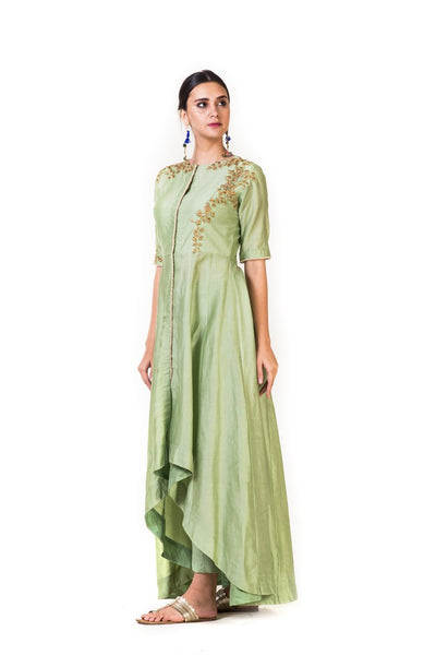 Anushree Agarwal Green High Low Salwar Suit