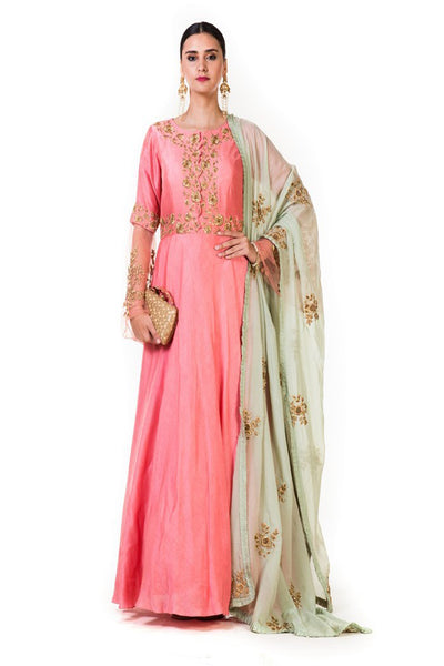 Anushree Agarwal Pink  Anarkali Suit