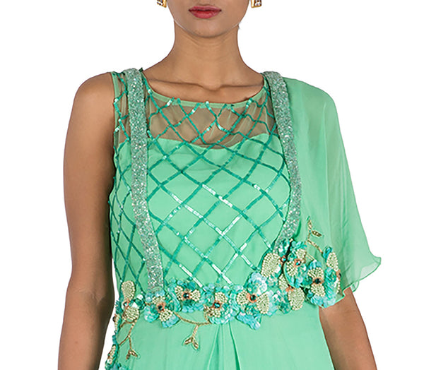 Anushree Agarwal Green Jumpsuit