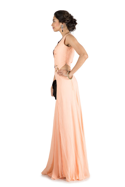 Anushree Agarwal Peach Gown