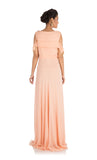 Anushree Agarwal Light Peach Long Cold Shoulder Dress