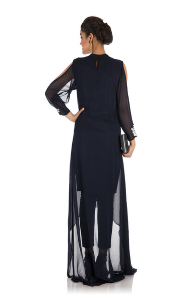Anushree Agarwal Navy Blue Asymmetrical Dress