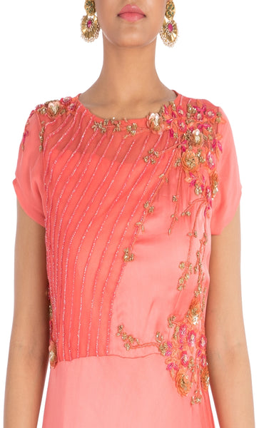 Anushree Agarwal Bright Blush Pink Dress